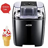 Aicok Ice Cream Maker, Frozen Yogurt and Sorbet Machine BPA Free with Timer Function, Easy Homemade Ice Cream with Instruction Book, 1.5 L, Black
