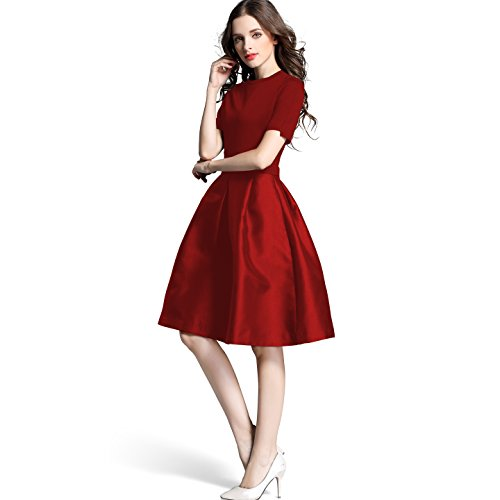 Bitlive Womens Sleeve Pleated Cocktail