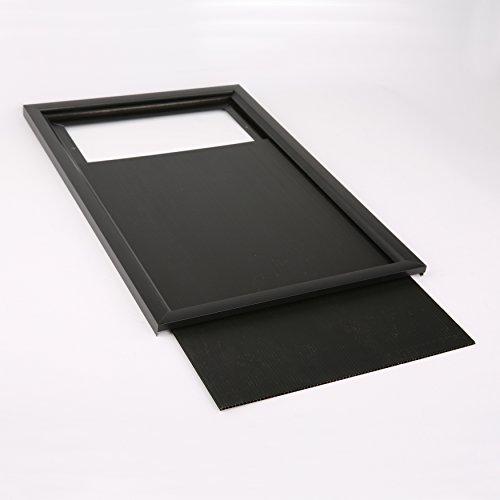 Poster-Size, Slide-in frame in Matte Black
