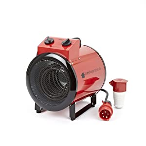 Trueshopping 5kw 17 000 btu electric space heater fan for How much to install a garage heater