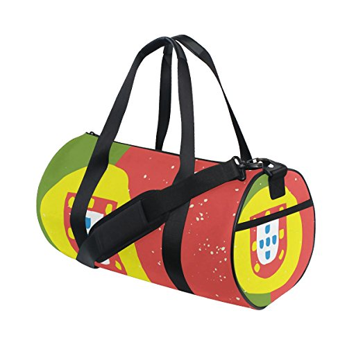 Distressed Portugal Flag Travel Duffel Shoulder Bag ,Sports Gym Fitness Bags by super3Dprinted