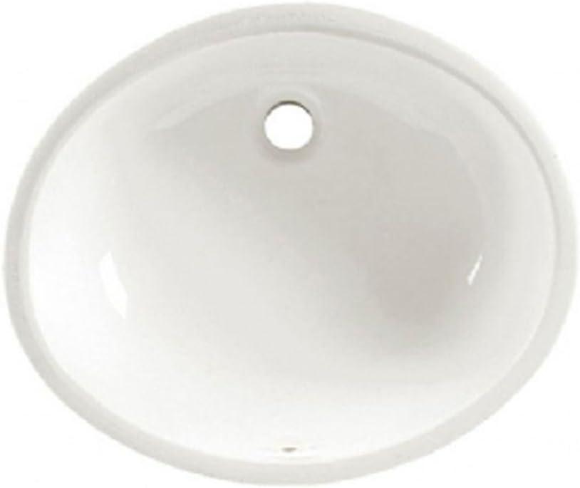 """American Standard 496221.020 Ovalyn Ceramic undermount Oval Bathroom sink, 19.6"""" L x 17.6"""" W x 9"""" H, White"""