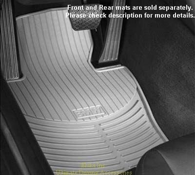 BMW E39 5 Series Genuine Factory OEM 82550151492 All Season Gray Front Floor Mats 525i 528i 530i 540i 1997 - 2003 (set of 2 front mats)