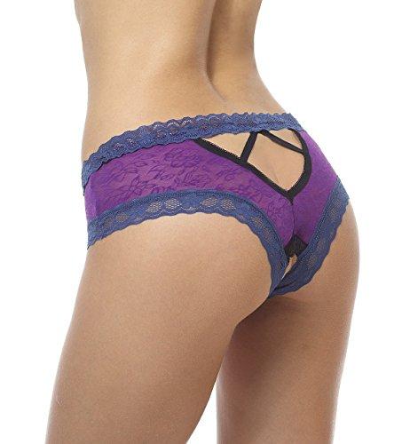 4ffe04640d2 Sofishie Open Crotch V-Back Panties - Purple - Medium - Import It All