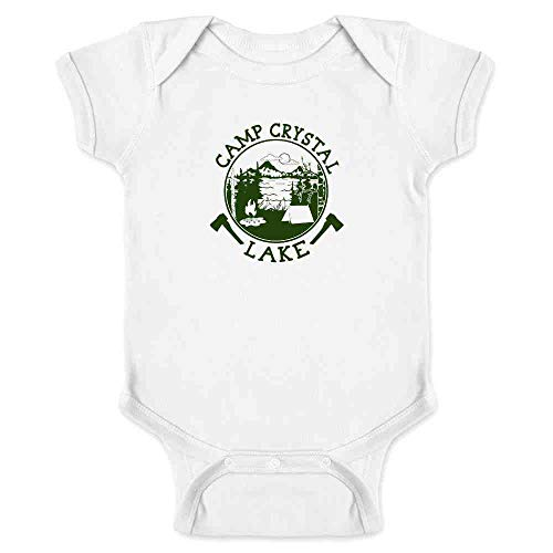 (Pop Threads Camp Crystal Lake Counselor Shirt Costume Staff White 18M Infant)