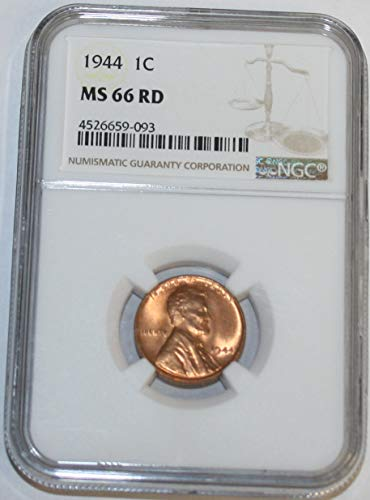 1944 Lincoln Cent MS66 NGC RD