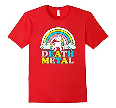 Death Metal Funny Rainbow Unicorn Novelty T-Shirt