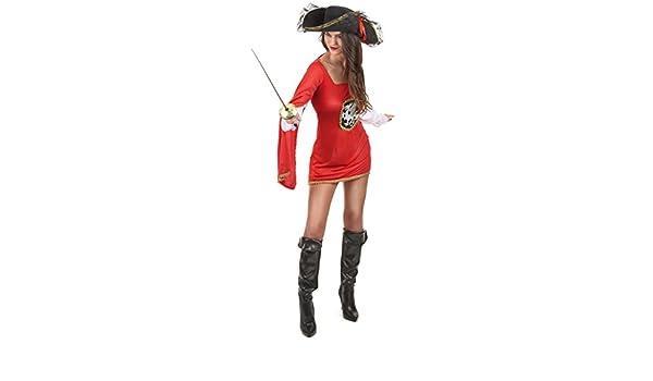 Disfraz de mosquetera roja mujer - M: Amazon.es: Juguetes y juegos