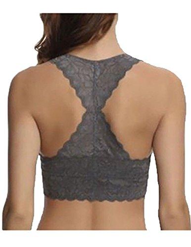 9a5a1666e369d Jual Felina Women s Lace Bralette 2 Pack. Color Black   Gray. Size ...