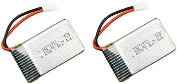 Outletdelocio Pack 2 baterias Lipo 3,7v 550Mah para Drone Syma X5C: Amazon.es: Juguetes y juegos