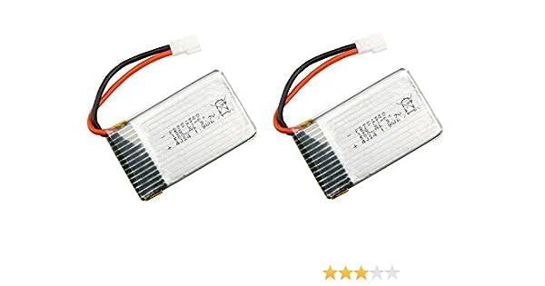 Outletdelocio Pack 2 baterias Lipo 3,7v 550Mah para Drone Syma X5C ...