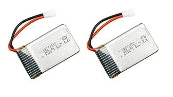 Outletdelocio Pack 2 baterias Lipo 3,7v 550Mah para Drone Syma ...