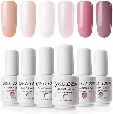 Gellen Red Colour Gel Polish 8ml 6 Colours Kit Gel Nail