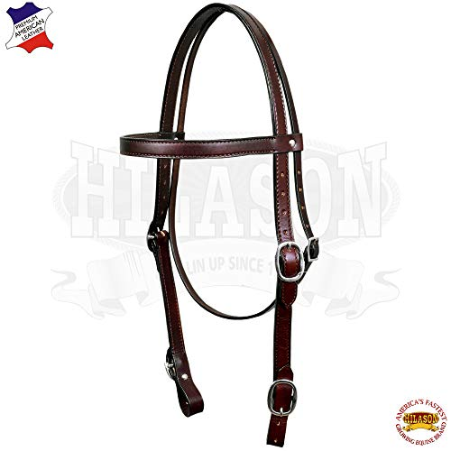 - HILASON Western Leather Draft Horse Bridle Headstall Oversize Dark Brown