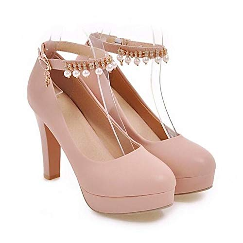 Comfort White Polyurethane Shoes PU Heel Pink Women's Black Stiletto Black Fall ZHZNVX Heels n6qUwSfpXx