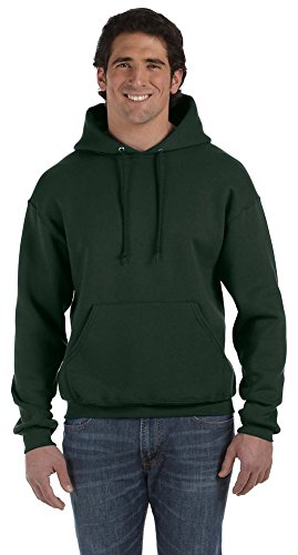 Fruit of the Loom 12 oz. Supercotton 70/30 Pullover Hood, Large, FOREST GREEN - Loom Adult Supercotton