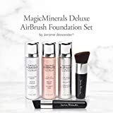MagicMinerals Deluxe AirBrush Foundation Set by Jerome Alexander, 5 Piece Spray Foundation Kit, Light Medium
