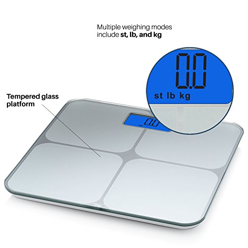 Smart Weigh Digital Body Weight Bathroom Scale with Weight Tracking and Step-On Technology, 440 Pounds, Recognizes and Stores 8 Users [2017 Upgraded Version] by Smart Weigh (Image #6)