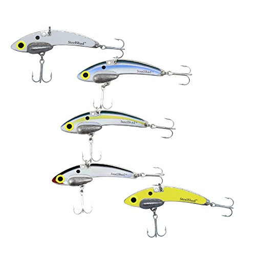 SteelShad - Bass Fishing Lures - Lipless crankbait for Freshwater Fishing - Long Casting Blade Bait Perfect for Bass, Walleye, Trout - Original 5 Pack (Best Bait To Catch Striped Bass)