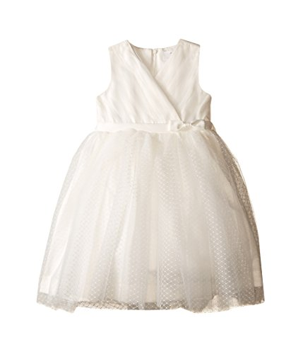 Us Angels Toddler Girls' Cross Bodice Tulle Dress, Ivory, 3T by US Angels