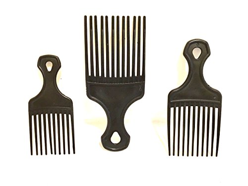 Egypt Pick (AFRO PICK African American Hair Pick 3pc Hookup set you get a 5in 6in 7in 3pc Black AFRO pick Afro comb)