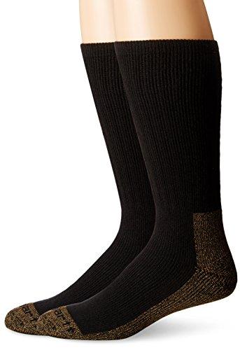 Steel Toe Boot Socks - Carhartt Men's 2 Pack Full Cushion Steel-Toe Synthetic Work Boot Socks, BlackHeather, Sock Size:10-13/Shoe Size: 6-12