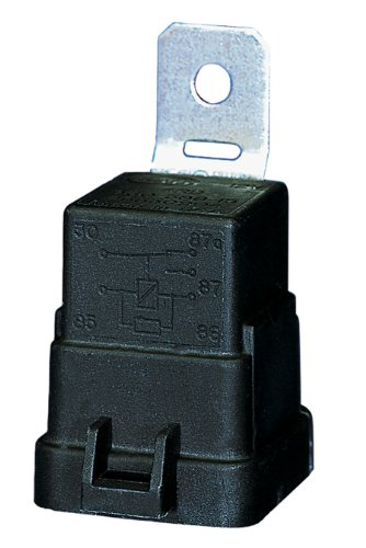 HELLA 007794301 Weatherproof 20/40 Amp SPDT Mini Relay with Bracket