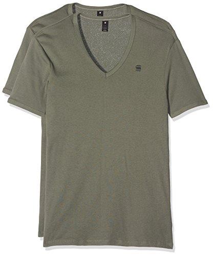 G-Star Men's Base HTR 2 Pack V-Neck T-Shirt