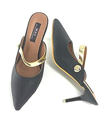 M&Y Black Heel Sandal For Women