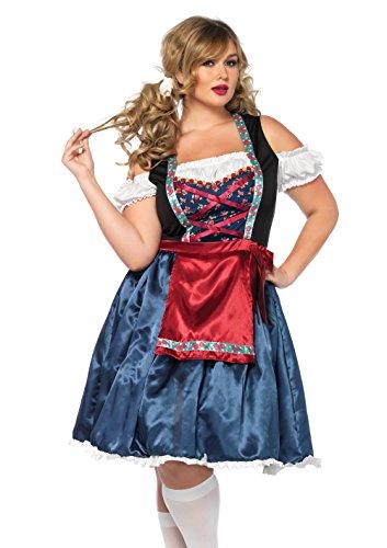 Leg Avenue Women's Plus Size Beerfest Oktoberfest Costume, Multi, 3X-4X -