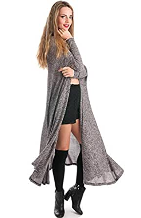 Hipster Gray Polyester Cardigan For Women