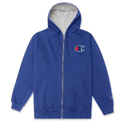- Champion Mens Big and Tall Full Zip Hoodie Classic Embroidered Logo ZAFFRE 4X