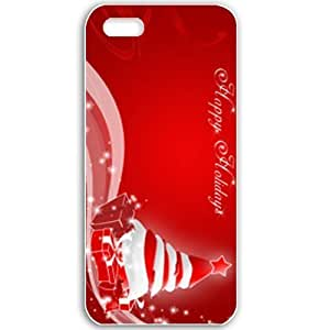 Apple iPhone 5 5S Cases Customized Gifts For Holidays Christmas Happy Chirstmas Celebrations Holiday White