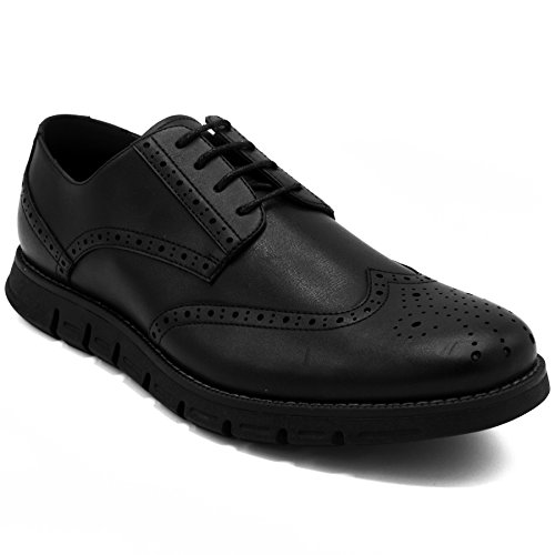 (Nautica Men's Wingdeck Oxford Shoe Fashion Sneaker Black Smooth-10.5)