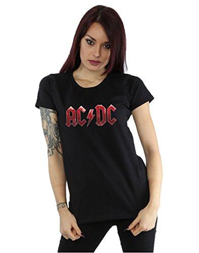AC/DC Women's Red Ice Logo T-Shirt Large (Ac Dc Crew T-shirts)