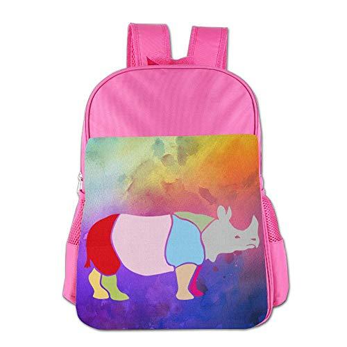 Kids Backpacks Cartoon School Bag For Boys & Girls Rhinoceros Africa Map by Lichang