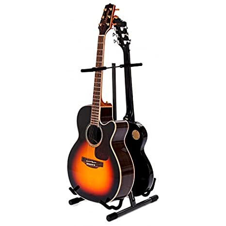 Proel FC820 - Soporte doble universal para bajo, eléctrico, guitarra clásica, acústica, gris antracita