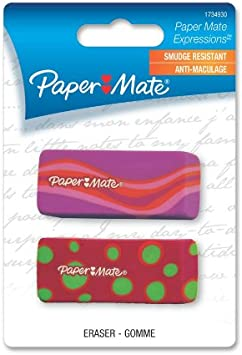 Paper Mate Expressions Decorated Erasers 4 Count