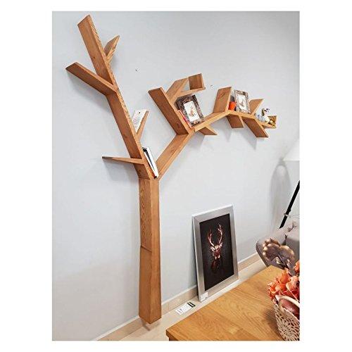 Scaffalatura TREEA, libreria da parete, in legno, a forma di albero ...
