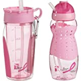Trudeau Breast Cancer Awareness Hydration Bottle Set