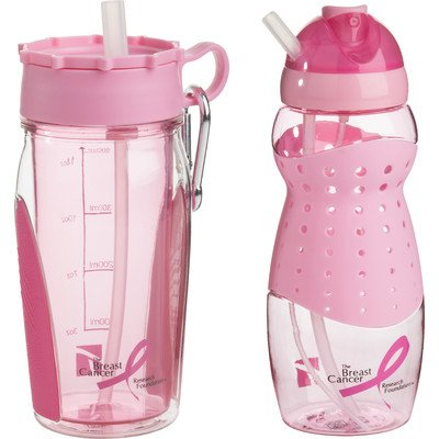 Trudeau Breast Cancer Awareness Hydration Bottle Set ()