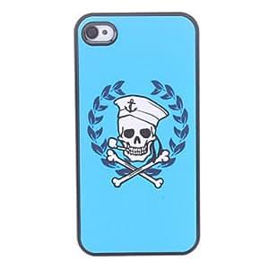 LZXWhite Skull Pattern Hard Case for iPhone 4/4S