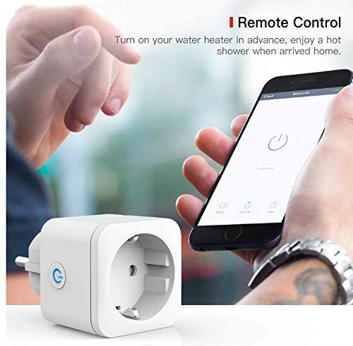 4 x Intelligente Steckdose WiFi 16 A 3300 W Mini Smart Plug funktioniert mit Siri Amazon Alexa, Echo, Google Home, kein Hub erforderlich, Timer-Funktion, Android App – iOS [Pack 4 Stück]
