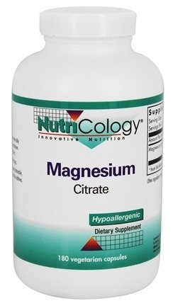 Nutricology Magnesium Citrate Capsules, 180 Count