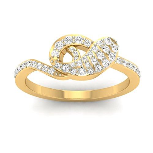 Or jaune 18K 0,33CT TW Round-cut-diamond (IJ | SI) en diamant