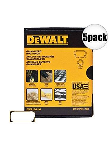 Dewalt Dwr16G1M 5 Pk 11/16 inch Hog Ring Fasteners