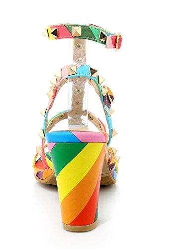 alla Multicolore UH Donna Caviglia Cinturino TwwOqax85