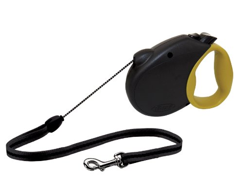flexi Freedom Retractable Cord Dog Leash, Medium, Black/Olive Green, 16-Feet Long, Supports up to 44-Pounds
