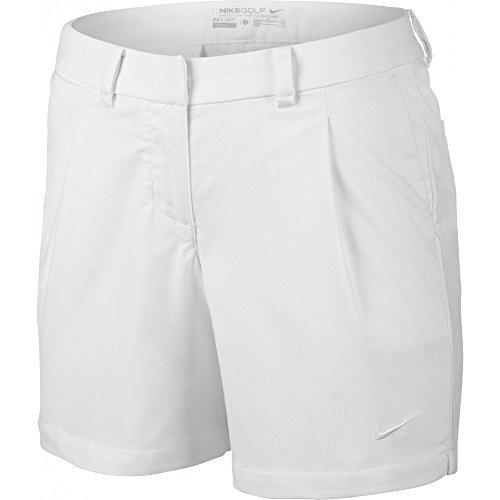 (Nike Oxford Women's Golf Shorts 725763 100 (6) White)
