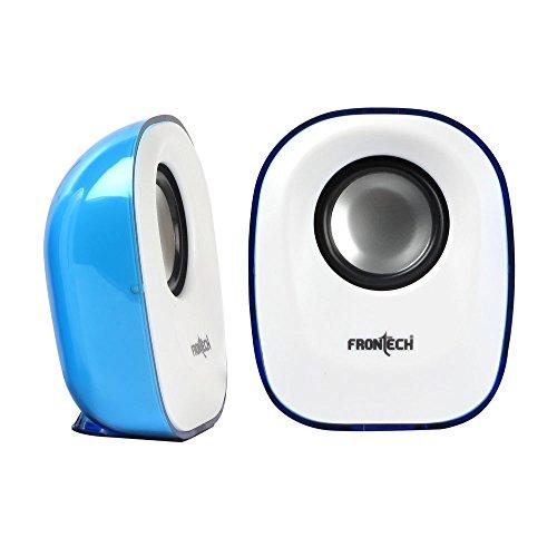 FRONtECH JIL 3347 USB Multimedia Speaker  White and Blue